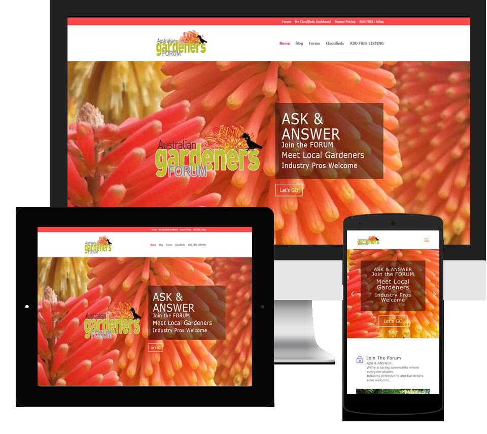 Australian Gardeners Forum Website Designed by Liz Maclean