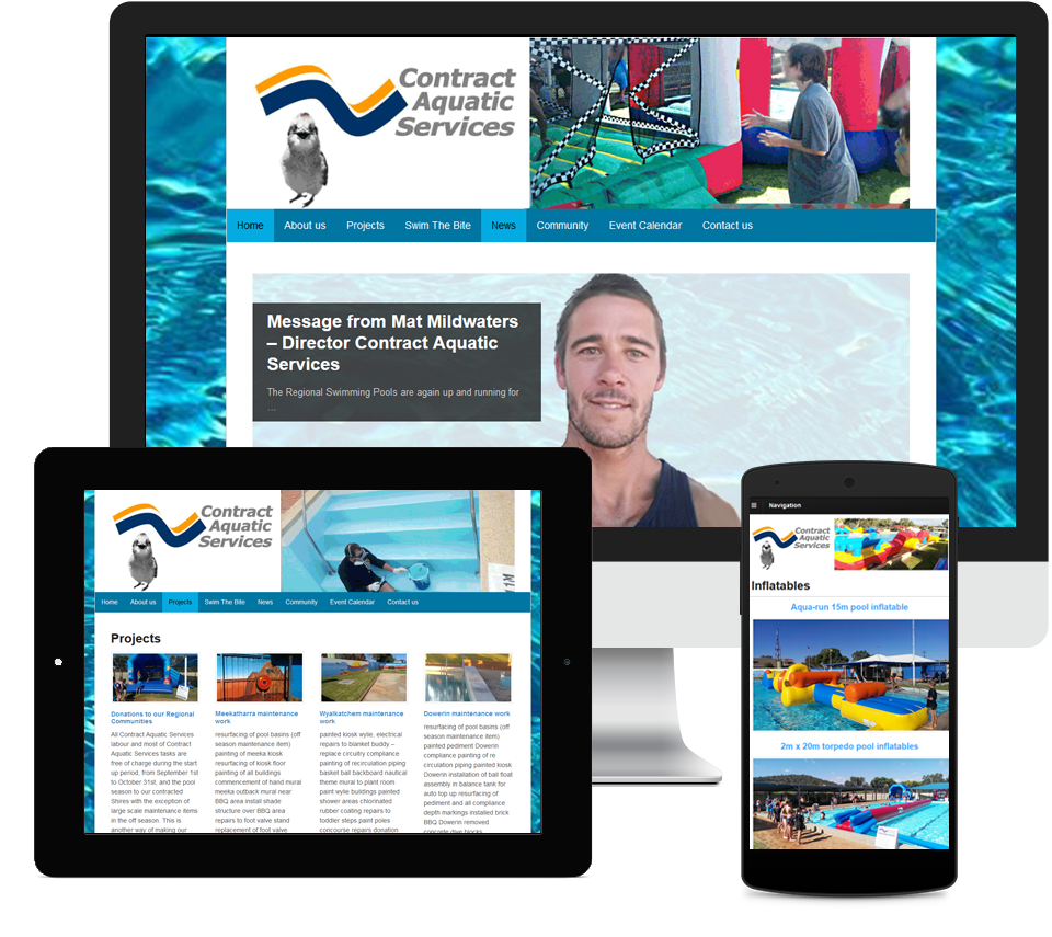 Contract Aquatic Services Website Designed by Liz Maclean