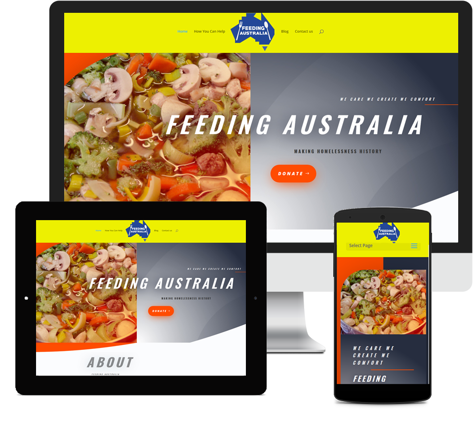Feeding Australia Website Designed by Liz Maclean