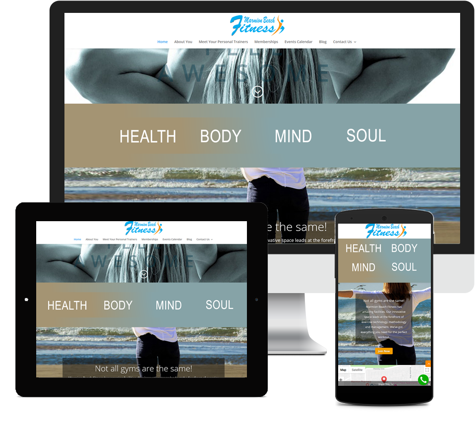 Marmion Beach Fitness Website Designed by Liz Maclean